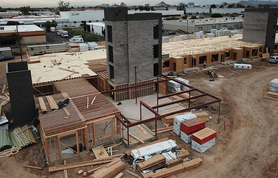Broadway Apartments, Tempe - December 2019 progress | Tofel Dent Construction