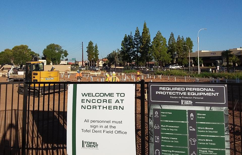 Encore at Northern - September 2019 progress | Tofel Dent Construction