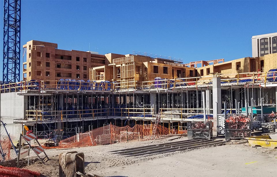 The Flin Luxury Apartment Homes - January 2020 progress | Tofel Dent Construction