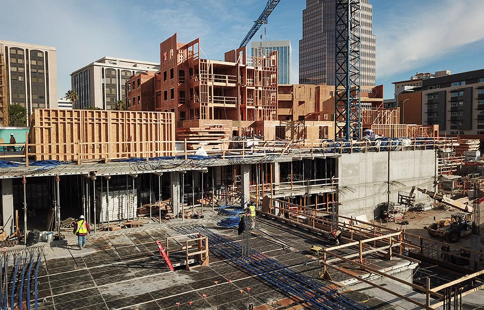 The Flin Luxury Apartment Homes - February 2020 progress | Tofel Dent Construction