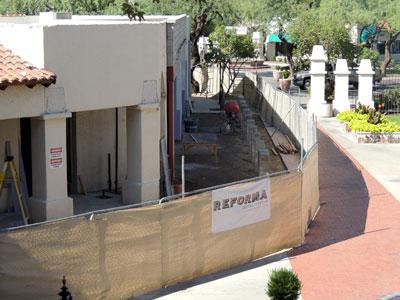 Reforma Restaurant at St. Philip's Plaza - August 2014 progress   Tofel Dent Construction